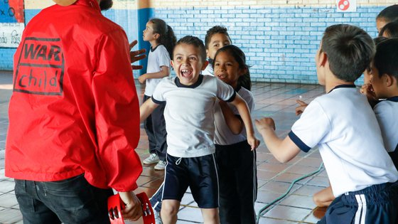 Venezuelan refugee children participate in War Child's TeamUp