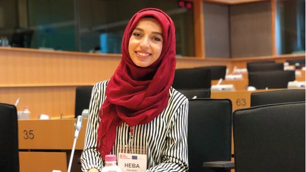 Heba from Syria speaks at Dutch Parliament