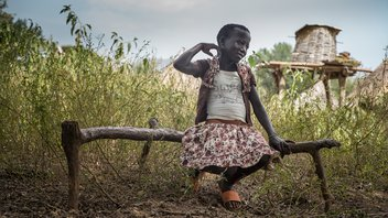 South Sudan girl outside